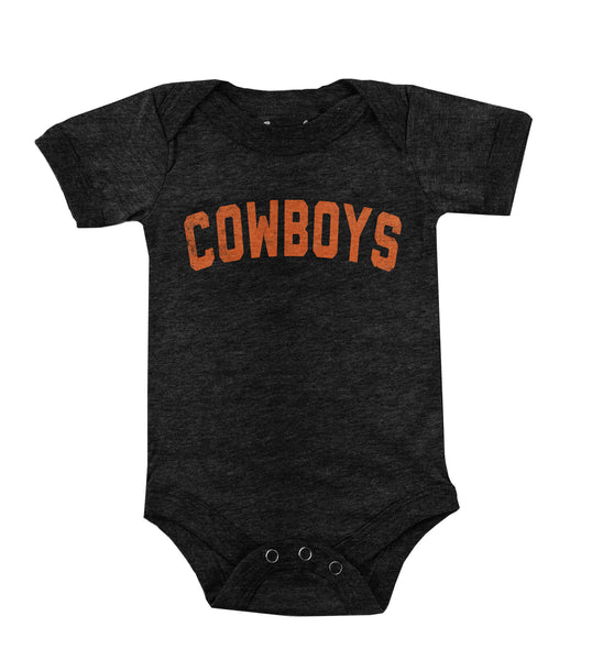OSU Cowboys Straight Faded Tri Blend Onesie