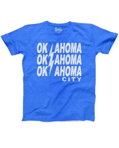 OKC Bolt L Kids Triblend Crew