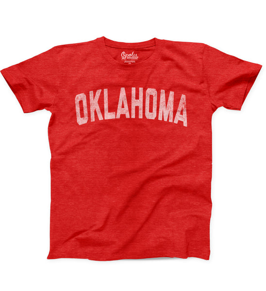 OU Oklahoma Straight Faded Kids Tri Crew