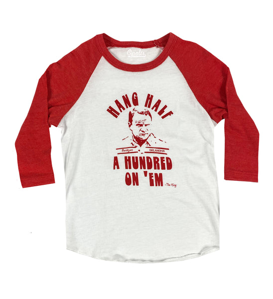 Hang Half A Hundred Kids Baseball Long-Sleeve