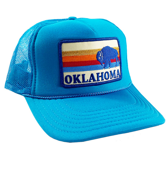 Oklahoma Bison Patch Trucker Hat