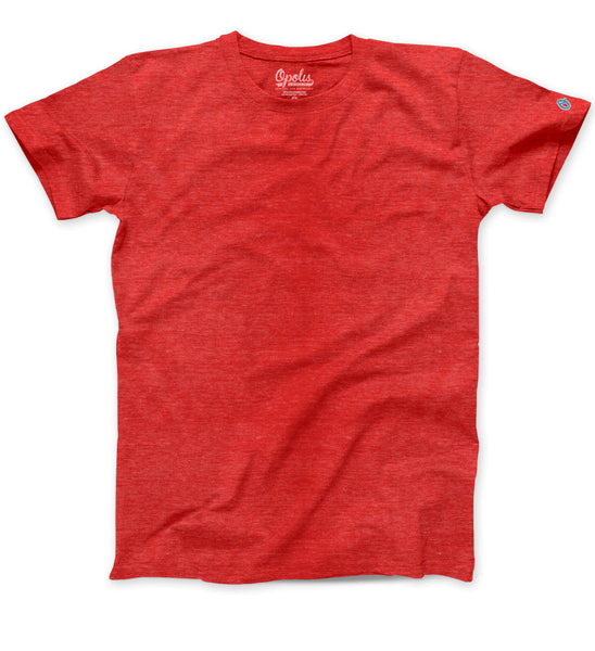 Red Triblend Classic Crew