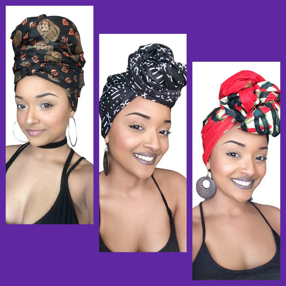 Default type -  - African Queen Headwrap Collection - Glamorous Chicks Cosmetics