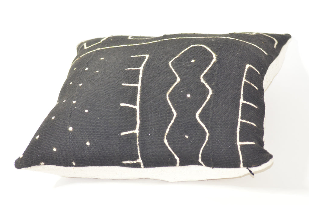 Black Authentic mudcloth Kelechi  pillows