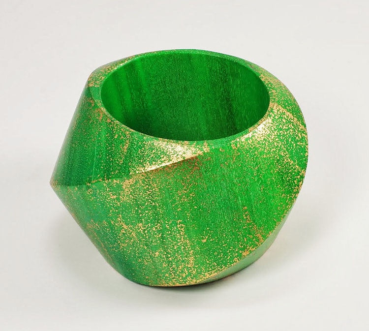 Gorgeous Carved Wooden Bangle - Wide - Glamorous Chicks Cosmetics