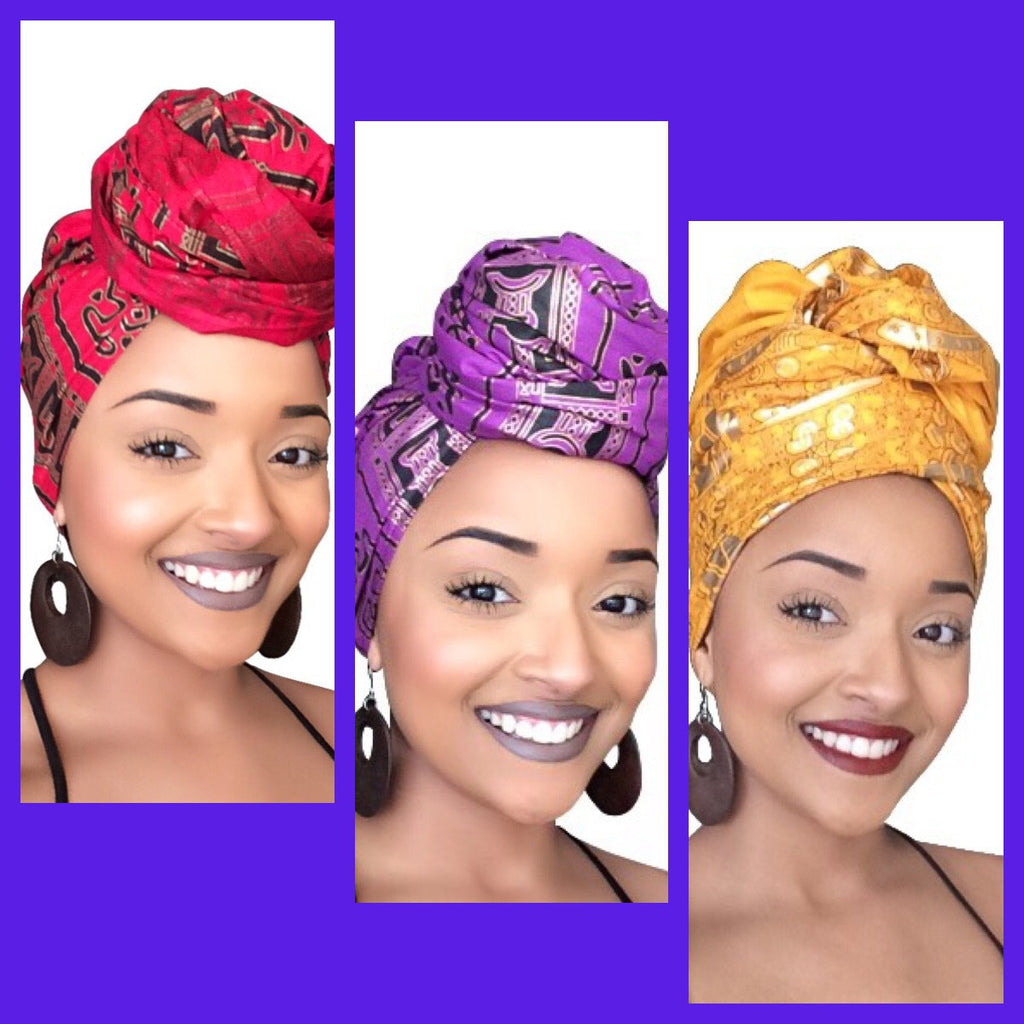 Default type -  - The Empress Headwrap collection - Glamorous Chicks Cosmetics