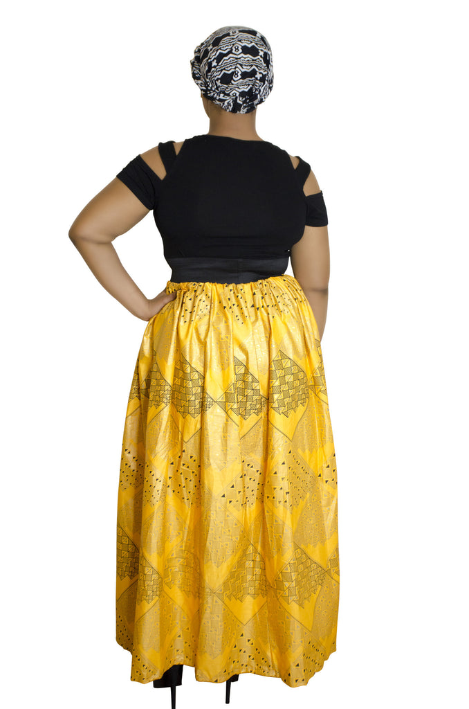 SKIN & HAIR CARE -  - Yellow Maxi African Skirt - Glamorous Chicks Cosmetics - 2