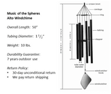 Music of the Spheres Alto Windchime Components and Specs