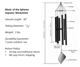 Music of the Spheres Soprano Windchime Components and Specs