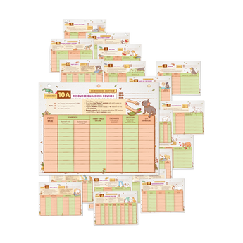 CHART AND WORKSHEET REFILL SET FOR PUPPY CULTURE WORKBOOK
