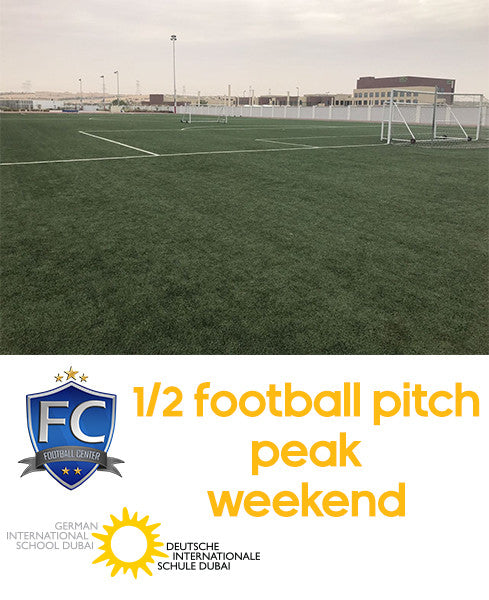 Half Football Pitch at German School Dubai (Weekend Peak: 9:00AM-12:00AM)
