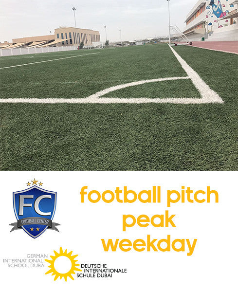Football Pitch at German School Dubai (Weekday Peak: 5:00PM-12:00AM)