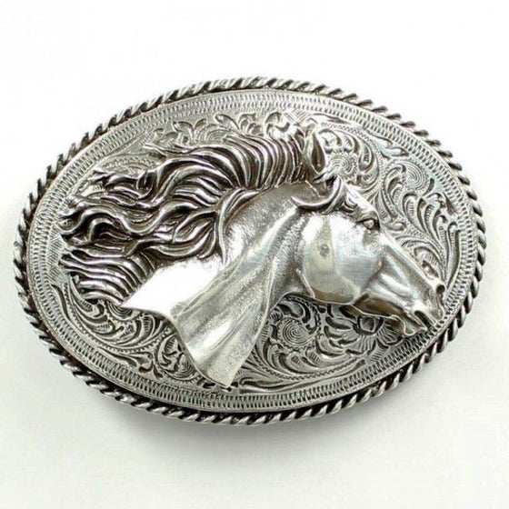 Buckle Horsehead with Flowing Mane