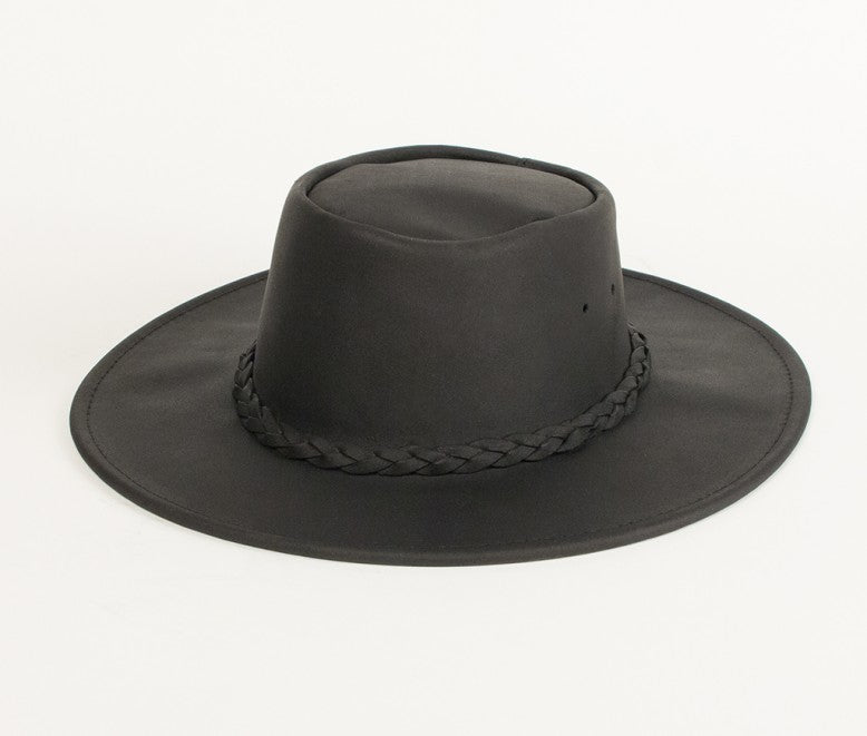9529 leather hat fold up