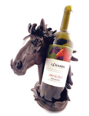 Wine Holder Horse Head 9631