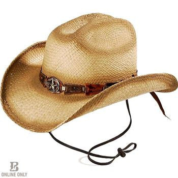Bullhide Star Central (Natural) Straw Hat