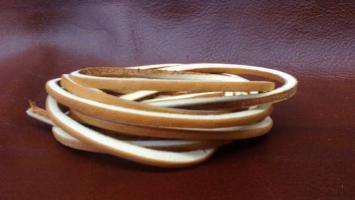 Leather Shoe Lace String  Tan