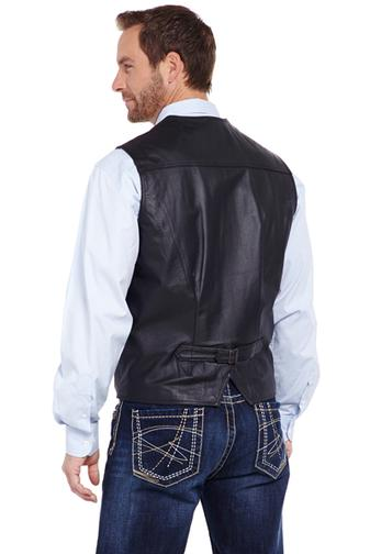 Cripple Creek Snap Front Leather Vest ML1059-41