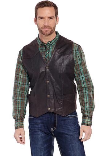 cripple creek leather vest ml3061-a90