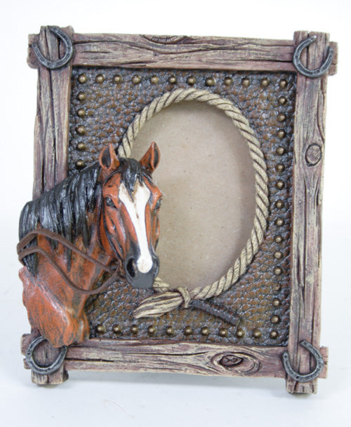 Frame Horse Head with Roped Edges X9020