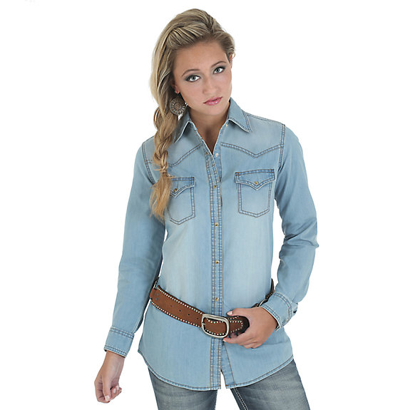 Wrangler Ladies Demin Shirt LW3781D