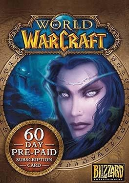 World of Warcraft 60 Days Time Card PC CDkey