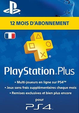 PlayStation PS Plus 12 Mois D'Abonnement - France