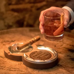 Whiskey Coaster And Cigar Ashtray