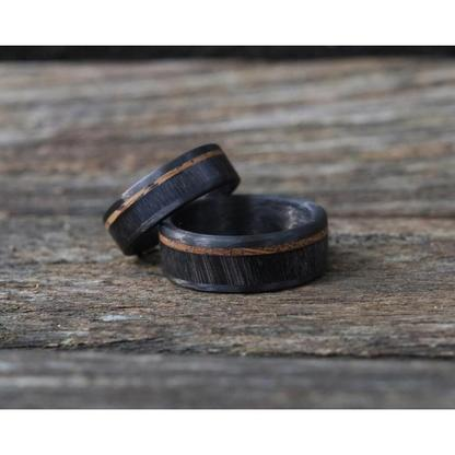 bison horn and whiskey barrel ring