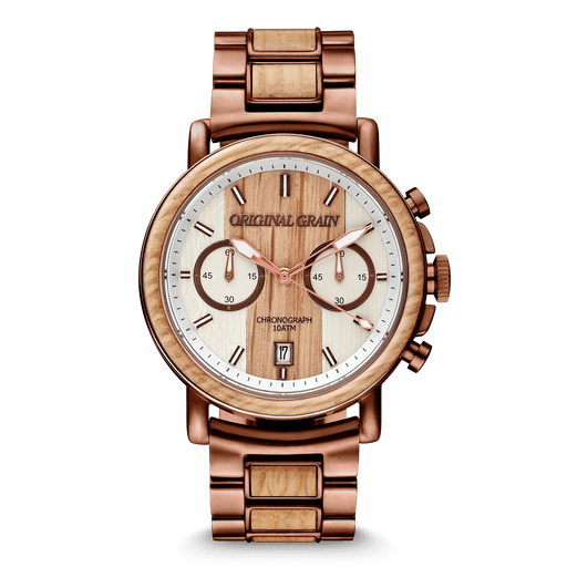 Whiskey Espresso Chrono 44mm by Original Grain