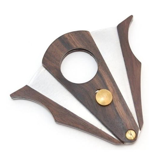 Cigar Cutter - Wood and Stainless Steel - Cut and Lock system