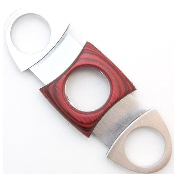 Dual Blade Guillotine Cigar Cutter - Wood & Stainless Steel