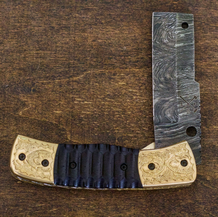 Damascus Folding Knife-Linerlock Model VG12