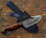 Damascus Steel Gut-Hook Knife- VG15