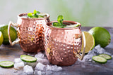 Hammered Copper Mugs- Set Of Four