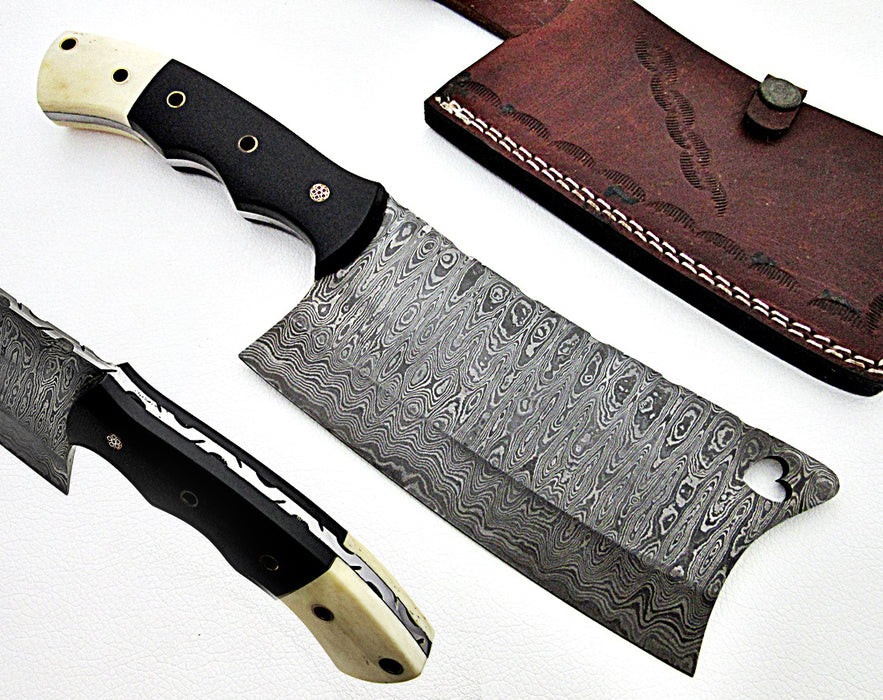 Damascus Steel Cleaver Chef's Knife- VG13