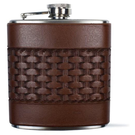 Leather Basket Weave Flask- Tactile Craftworks