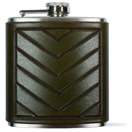 Chevron Flask Leather Flask- Tactile Craftworks
