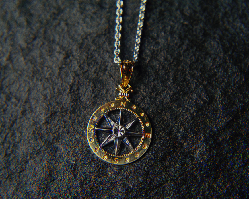 womens compass rose pendant