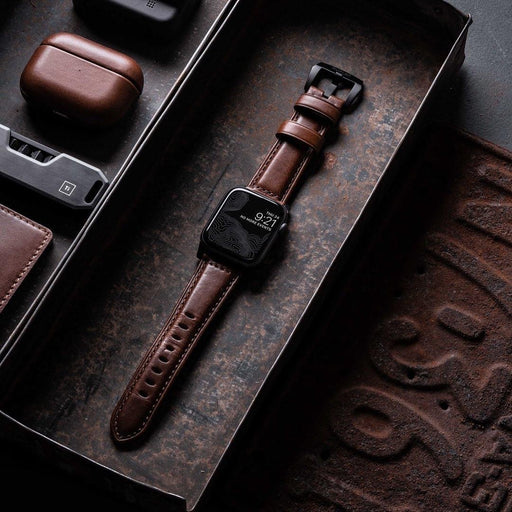 Traditional Leather Apple Watch Strap