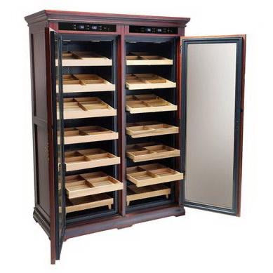 """The Reagan"" Electric Dual Zone Cabinet Humidor"