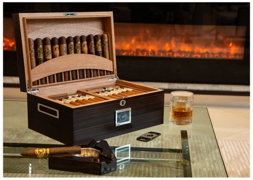 "The ""Rockefeller"" Humidor And Built-In Display"