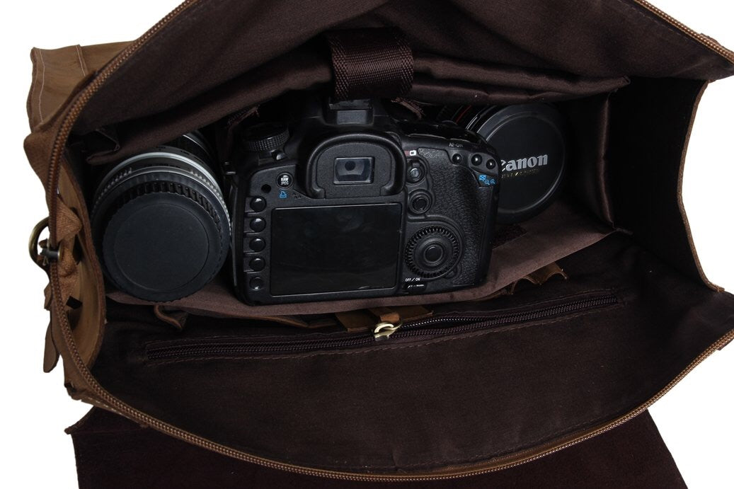 leather dslr photography bag