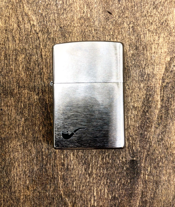 Chrome Pipe Zippo Lighter