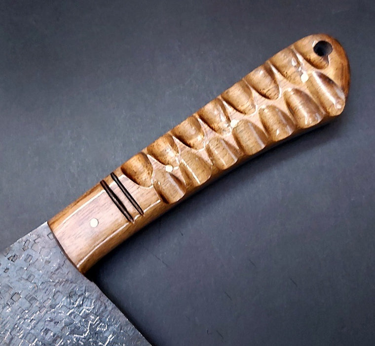 walnut wood chef knife