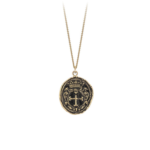 14kt gold mens religious pendant necklace