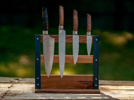 Kitchen Knife Set With Wooden Magnetic Block