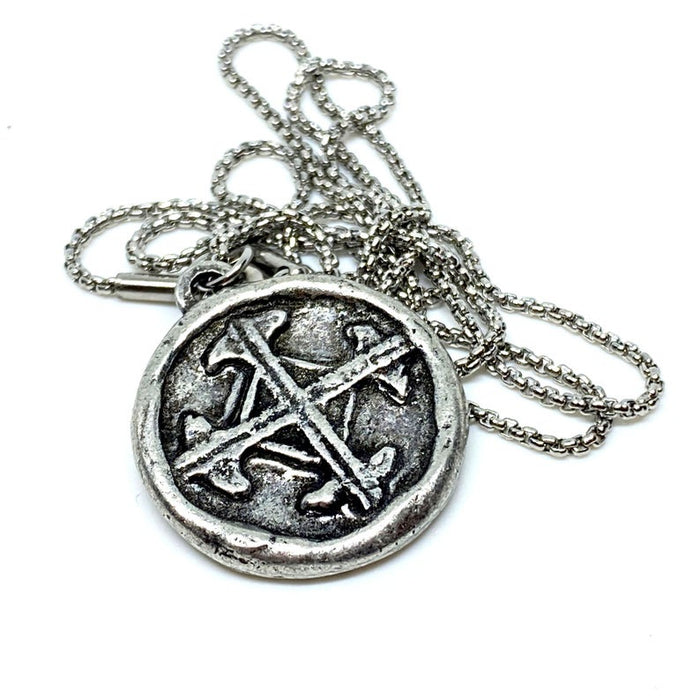 mens cross pendant and necklace