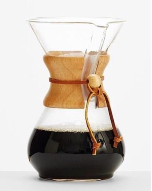 Pour Over Coffee Maker, 400 mL / 3 Cups Glass with Wood Collar