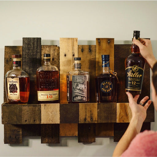 bourbon barrel shelf